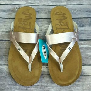 Mad Love Rose Gold Regina Comfort Flip Flop Sandal